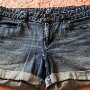 Women's denim shorts.